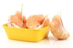 Vers en gepeld pomeloshaddock, grapefruit met plakken royalty-vrije stock afbeelding