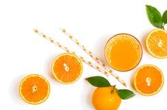 Vers enkel gedrukt jus d'orange royalty-vrije stock afbeelding