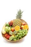 Vers fruit in een groep Stock Afbeelding