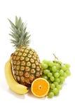 Vers fruit in een groep Stock Afbeeldingen