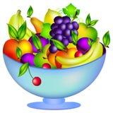 Vers fruit in een kom Royalty-vrije Stock Afbeelding