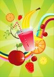 Vers Fruit Smoothie stock illustratie