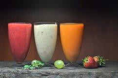 Vers fruit smoothies Stock Afbeelding