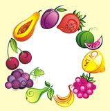 Vers fruitachtergrond Royalty-vrije Stock Afbeeldingen