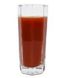 Vers geïsoleerd tomatesapglas Stock Foto's