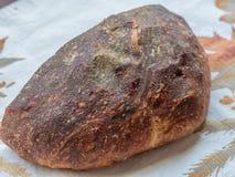 Vers gebakken artisanaal brood van brood stock fotografie