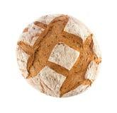 Vers gebakken binnenlands roggebrood met zemelen, hoogste mening Royalty-vrije Stock Foto