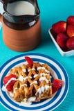 Vers gebakken continentaal ontbijt royalty-vrije stock foto's