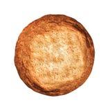 Vers gebakken die koekje op wit wordt geïsoleerd stock fotografie