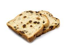 Vers Gebakken en fruitbrood die vlak liggen stock afbeelding