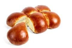 Vers gebakken gebakjes op een witte achtergrond Stock Foto's
