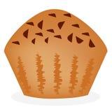 Vers gebakken muffin bij de witte achtergrond Royalty-vrije Stock Afbeelding