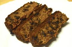 Vers gebakken pompoenbrood met chocoladeschilfers Stock Foto's