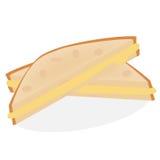 Vers gebakken sandwich bij de gele achtergrond Royalty-vrije Stock Foto