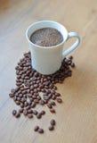 Vers gebrouwen koffiekop Stock Afbeeldingen