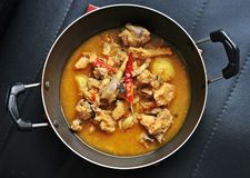 Vers gekookte Kippenhutspot met Indische kruiden Royalty-vrije Stock Fotografie