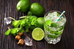 Vers gemaakt zonder alcoholische mojitococktail Stock Afbeelding