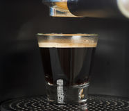 Vers gemaakte espresso Royalty-vrije Stock Afbeeldingen