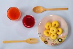 Vers gemengd vruchtesap Royalty-vrije Stock Foto's