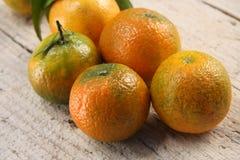 Vers geplukte clementines Royalty-vrije Stock Foto's