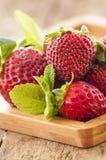 Vers geplukte Strawberry& x27; s Stock Afbeeldingen