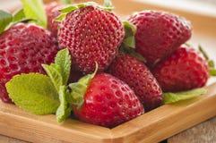 Vers geplukte Strawberry& x27; s Stock Foto's