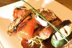 Vers geroosterde vlees & groenten Royalty-vrije Stock Foto's