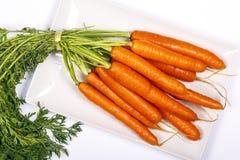 Vers gewassen gehele wortelen royalty-vrije stock foto
