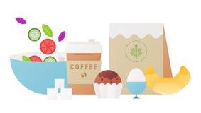 Vers gezond ontbijt stock illustratie
