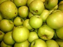 Vers groen appelenclose-up Stock Fotografie