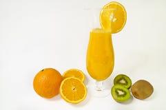 Vers jus d'orange stock foto's