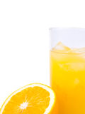Vers jus d'orange in glas Royalty-vrije Stock Afbeelding
