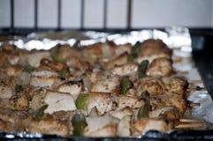 Vers kebab met greens Stock Fotografie