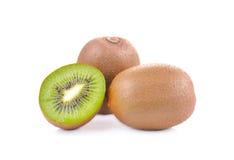 Vers kivifruit op een witte achtergrond Royalty-vrije Stock Fotografie