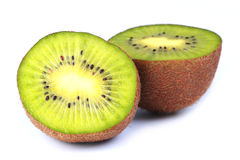 Vers Kiwi Fruit Into Halves Royalty-vrije Stock Foto's