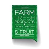 vers landbouwproduct etiket Stock Foto