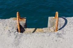 Vers le bas à la mer Images libres de droits
