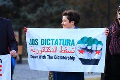Vers le bas avec la dictature Images stock