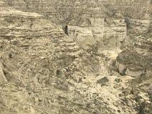 Vers le bas canyons de vue au caboteur de Makran de parc national image libre de droits