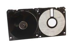 Vers le bas dépouillé disque souple Images stock