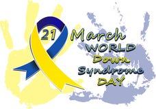 Vers le bas jour de syndrom Images stock