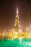 Vers le bas ville de Dubaï Photos stock