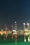 Vers le bas ville de Dubaï Images libres de droits