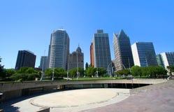 Vers le bas ville Detroit Image stock