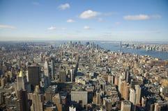 Vers le bas ville Manhattan Photographie stock libre de droits