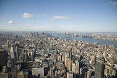 Vers le bas ville Manhattan Photos stock