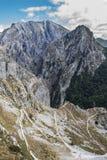 Vers le haut à Tresviso Photographie stock