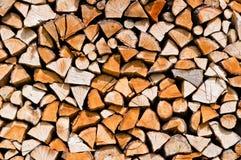 Vers le haut coupé bois Photographie stock libre de droits