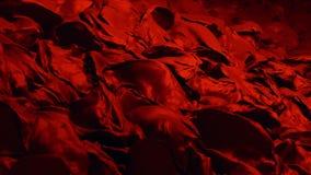 Vers le haut d'aller ondule en rouge illustration de vecteur