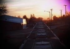 Vers le haut de au-dessus du train Photo stock